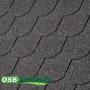 Fekete színű Tegola Eco Hódfarkú mintás zsindely
