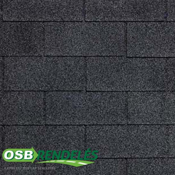 Fekete színű Tegola Top 20 Téglány mintás zsindely