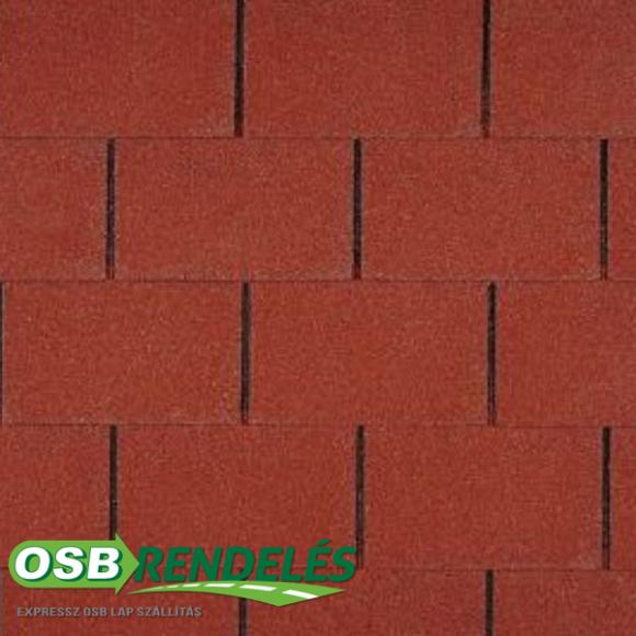Vörös színű Tegola Top 20 Téglány mintás zsindely
